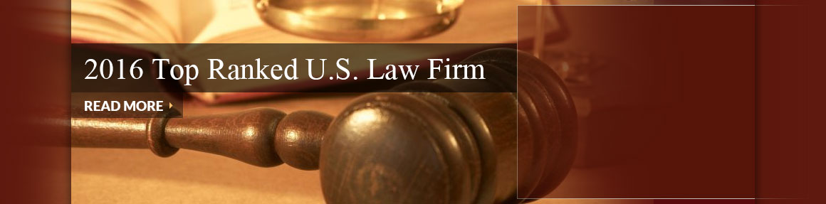 2016 TOP RANKED U.S. LAW FIRM